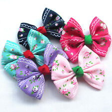 New 30/150PC Grosgrain Ribbon Flowers Bows Appliques Wedding Decor Lots Mix A456