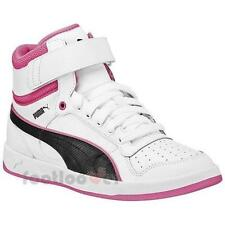 Shoes Puma Liza Mid Jr 359071 01 White Sneakers Girls Leather Moda Fashion