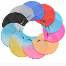 Popular Durable Flexible Sporty Latex Swimming Swim Cap Bathing Hat Unise Colors