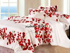 19Momme 100% Pure Silk Duvet Doona Cover Fitted Flat Sheet Set King Size JHF05