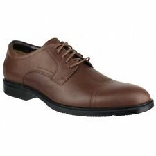 Rockport CITY SMART CAP TOE Mens Leather Lace Work Office Formal Comfy Shoes Tan