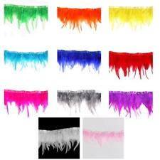 1 Yard Dyed Rooster Feather Fringe Trim Craft Feather Sewing Millinery Costume