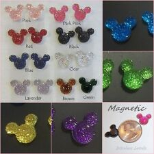 MAGNETIC Mouse Ears Head Stud Fake Clip-on Non-Pierced Choose Color Earrings #91