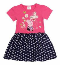 NWT Girls Peppa Pig Butterflies Dot Spring Birthday Party Dress SZ 18M- 5/6
