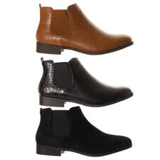 Women's Flat Chelsea Boots Ladies Comfortable Ankle Boots Shoes Footwear