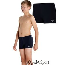 Boys Black Speedo Endurance+ Aquashort Aqua Shorts Swimming Trunks Swimwear