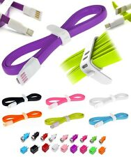 4x 4ft Micro USB Noodle Silicone Cable+ 2 Wall+ 2 Car Chargers for Galaxy HTC LG