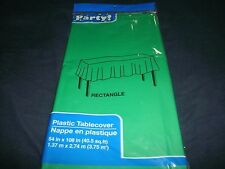 """GREEN 54"""" x 108"""" Tablecloth Rectangle Plastic Banquet Party Table Cover"""