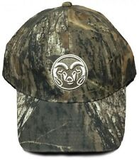 NEW! Colorado State Univ. Rams Adjustable Velcro Back Hat Embroidered Camo Cap