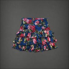 NWT ABERCROMBIE & FITCH Ainsley Ruffle Floral Skirt Size S