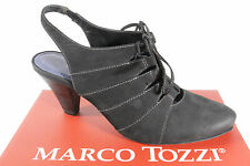 Marco Tozzi Women's Sling/ Sandal, black, Rubber sole, Lace up look NEW