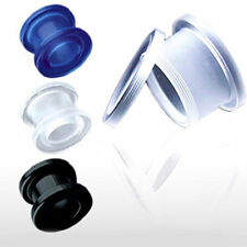 UV Flesh Tunnel Plug Expander 4 3-19mm Acrylic - PIERCINGS from COOLBODY