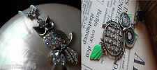 XXL Owl necklace Gold Silver Eagle Owl Owl Pendant Necklace Vintage