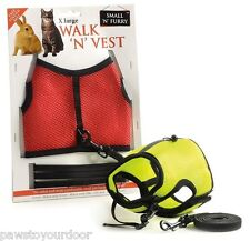 Rabbit & cat harness & lead vest set x large small'n'furry