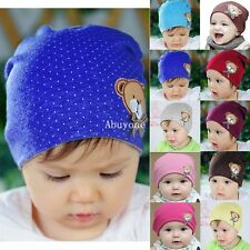 Newborn Infant Toddler Girl Boy Baby Cap Cute Bear Polka Dot Beanie Cotton Hat