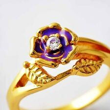 fashion gold filled wedding CZ rings jewelry free shipping Size 8 9 10 12