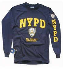 NYPD T-Shirt, Long Sleeve New York City Police Department Screen Printed Shield