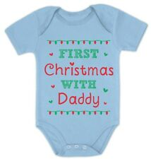 First Christmas With Daddy - Cute Xmas Baby Grow Vest Baby Onesie Gift Idea