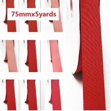 """by 5 Yards Grosgrain Ribbon 3"""" /75mm. for Wedding Rose to Red s color"""