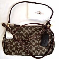 NWT Coach F34546 Signature Charley Cross body Shoulder Bag Authentic