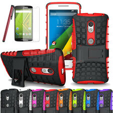 Heavy Duty Impact Rugged Hybrid Rubber Hard Case Cover For Motorola Droid Maxx 2