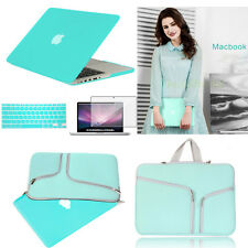 Tifanyblue For 11 13 15 MacBook Air Pro Laptop Rubberized Hard Sleeve Case Cover