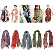 Women's Floral Pashmina Winter Warm Scarf Shawl Wrap Scarves Cashmere Scarf