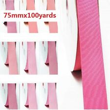 """Grosgrain Ribbon 3"""" /75mm. Wholesale 100 Yards, all Pink s to Choose"""