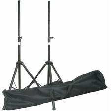 QTX PA Speaker Stands with Bag For DJ Disco and PA (Pair) - Extra Strong