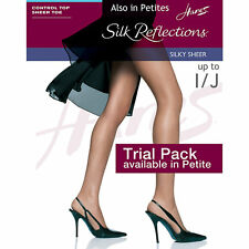 Hanes Silk Reflections Control Top Sheer Toe Pantyhose -717