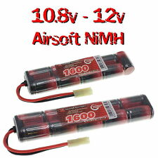 10.8v & 12v 1600mAh NiMH Premium Airsoft AEG Battery packs with custom connector