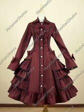 Victorian Gothic Lolita Trench Dress Coat Steampunk Reenactment Clothing C019