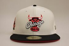 Chicago Bulls White Pebble Leather Black Infrared New Era NBA Fitted Hat