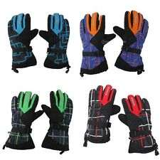 MEN WOMENS THERMAL WINTER SPORTS SNOW SKI SNOWBOARD THINSULATE GLOVES WARM MITTS