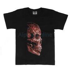 Mens Rock Casual Skull Top Tee Crew Neck 3D Printed T-shirt Fluorescent T shirt