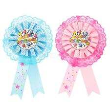 Award Ribbon Rosette Pin Badge 'Happy Birthday' Kids Party Favors Party Decors