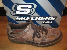 Skechers Men's Lace-up Shoes,Sneaker trainers,brown,Removable footbed,