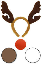 Fancy Dress Reindeer Kit Face Paint Body Rudolph Horns Antler Red Nose Party