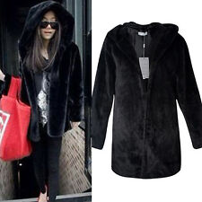 Ladies Black Faux Fur Coat