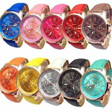 2015 Geneva Watch Women Fashion Quartz Watches Casual Ladies Dress Watches Gold