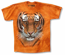"THE MOUNTAIN ""TIGER"" FACE ORANGE TIE DYE T-SHIRT NEW OFFICIAL KIDS YOUTH CAT"