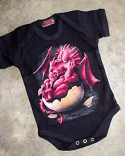 Spiral Clothing Growing Pains Onesie Punk Gothic Black Baby Romper Gift Dragon