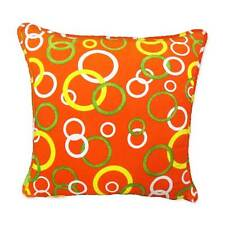 FFC-137 Bubble Circles Quality Canvas Zippered Cushion Cover Case Piping Custom