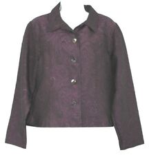 COLDWATER CREEK Buttoned PURPLE TOP BLOUSE M