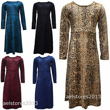 Dress Girls Leopard Print Kids Outfit Party Maxi Abaya Size 5 7 9 10 11 13 Years