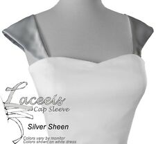 Cap Sleeves or Corset Kit for Wedding Gown Fit Silver Gold Off-White