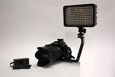 Pro 4K 2 LED video light with AC power adapter for Panasonic AC7 AF100 camcorder