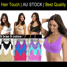 9 x Seamless Bra Set 9 colors one each S M L XL XXL XXXL ahh comfy Shape Wear