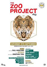 OFFICIAL Zoo Project Ibiza Party 5th September 2015 Paul Woolford Club Poster