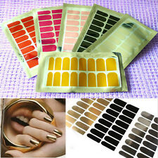 DIY Nail Wraps Mirror Reflect Finger Foils Tips Transfers Stickers #14